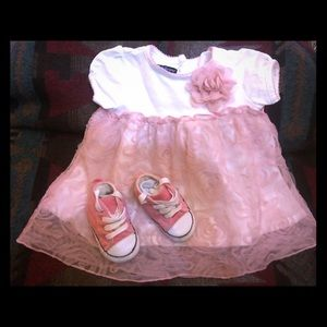 Cute baby girl combo buy! Dress and converse shoes